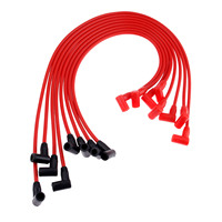 Yetaha 8Pcs 8mm Spark Plug Wires Ignition Cable Set PAC 608R For Chevrolet GMC All Models Wires Over Valve Covers
