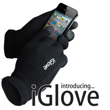 Factory price! Screen Touch Gloves Unisex for iphone/ipad 3-finger Touch Screen Glove with iglove LOGO Free shipping