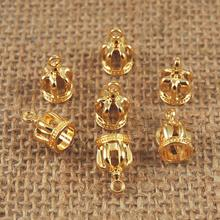 10 Pieces Golden Crowns Charms Pendants DIY Crafts Crown pendulum Jewelry Findings for women jewelry Making set