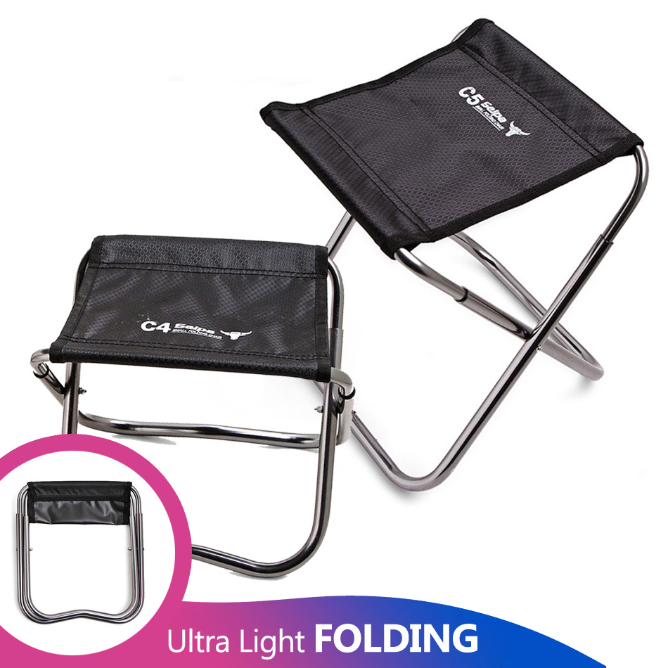Camping Fishing Chair Children Mini C4 Folding Kamp Sandalyesi Foldable Outdoor Sillas de playa Stool Portable Silla Beach Bench-in Fishing Chairs from Sports & Entertainment