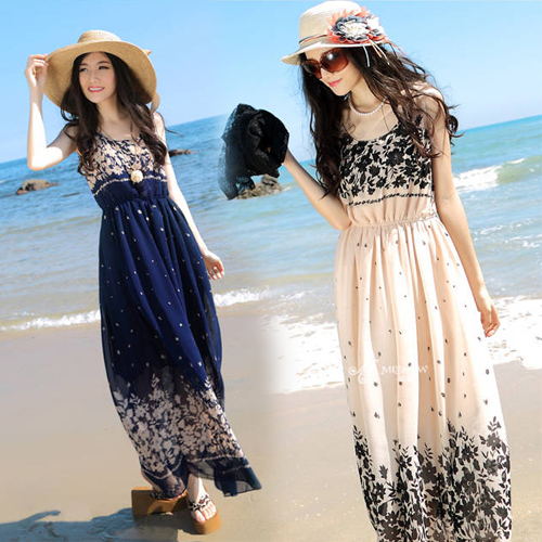 2428c4781a24 summer dress 2015 beach Floral swimsuit cover up b. ...