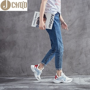 Image 2 - JCHQD 2019 autumn Vulcanize Female Fashion Sneakers Lace Up Soft High Leisure Footwears Breathable Mesh Women Casual Shoes