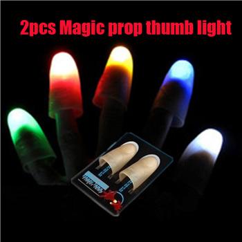 1 para magiczny kciuk czerwone światło zapalić kciuk porady z LED czerwony magiczny kciuk wskazówka światło iluzja miękki standardowy rozmiar 2 sztuk rekwizyty tanie i dobre opinie AUTOPS Z tworzywa sztucznego CN (pochodzenie) Unisex Jeden rozmiar magic thumb light Do not eat 5-7 lat 8-11 lat 12-15 lat