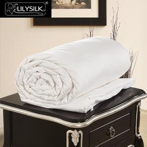 Image 1 - LilySilk pocieszyciel kołdra jedwabna letnia bawełna pokryta czysta 100 jedwab naturalna kołdra długi nici floss koc luksusowa królowa