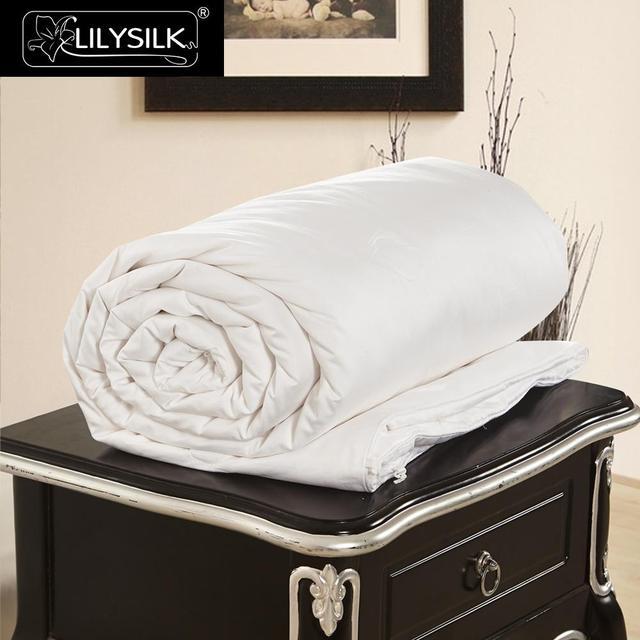 LilySilk pocieszyciel kołdra jedwabna letnia bawełna pokryta czysta 100 jedwab naturalna kołdra długi nici floss koc luksusowa królowa