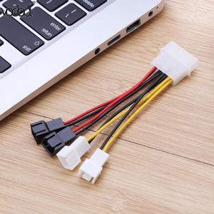Image 4 - 1 pcs/lot ordinateur ventilateur de refroidissement câbles dalimentation 4Pin Molex à 3Pin ventilateur câble dalimentation adaptateur connecteur 12 v * 2/5 v * 2 pour CPU PC boîtier ventilateur