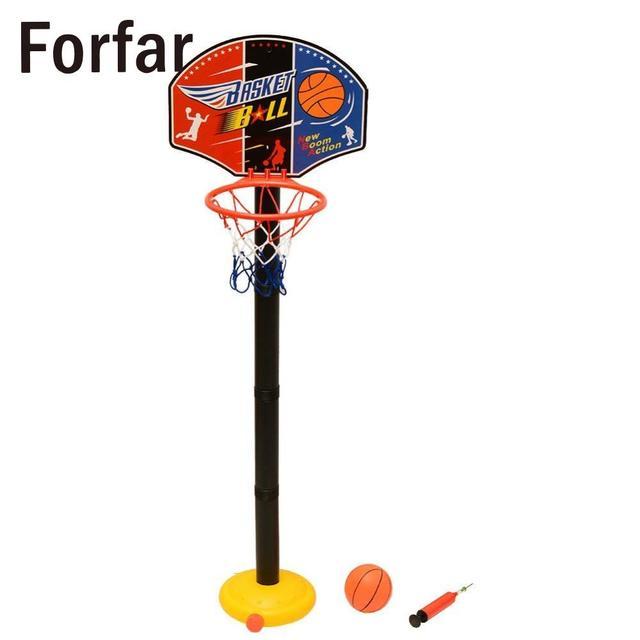 Forfar Scherza il Bambino Dei Bambini di Sport Treno Portatile Regolabile Basketball Hoop Toy Set Stand Palla Tabellone