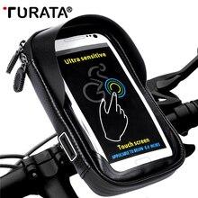 Держатель для телефона TURATA, универсальная велосипедная подставка для мобильного телефона, водонепроницаемая сумка для iPhone X 8 Plus S8 V20, gps, велосипедная мотоциклетная сумка на руль