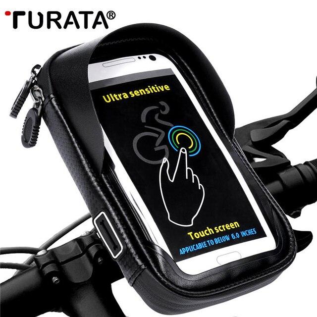 TURATA Téléphone Support Universel Vélo Support Mobile Stand Étanche Sac Pour iPhone X 8 Plus S8 V20 GPS Vélo Moto Guidon Sac