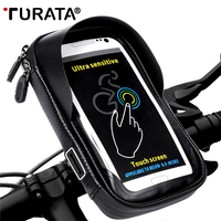 TURATA Phone Holder Universal Bike Mobile Support Stand Waterproof Bag For IPhone X 8 Plus S8
