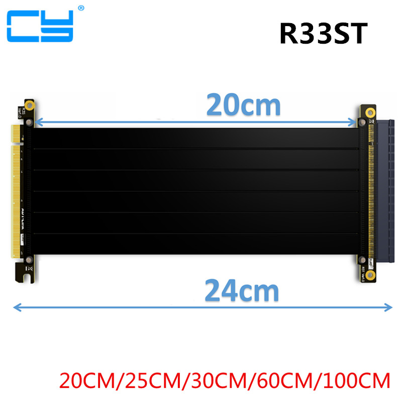 Riser PCI Express PCI-E 16x à PCIE 3.0x16 Riser câble de carte graphique 20 cm 100 cm pour GTX1080TI firepro w7100, quadro K1200 VEGA64