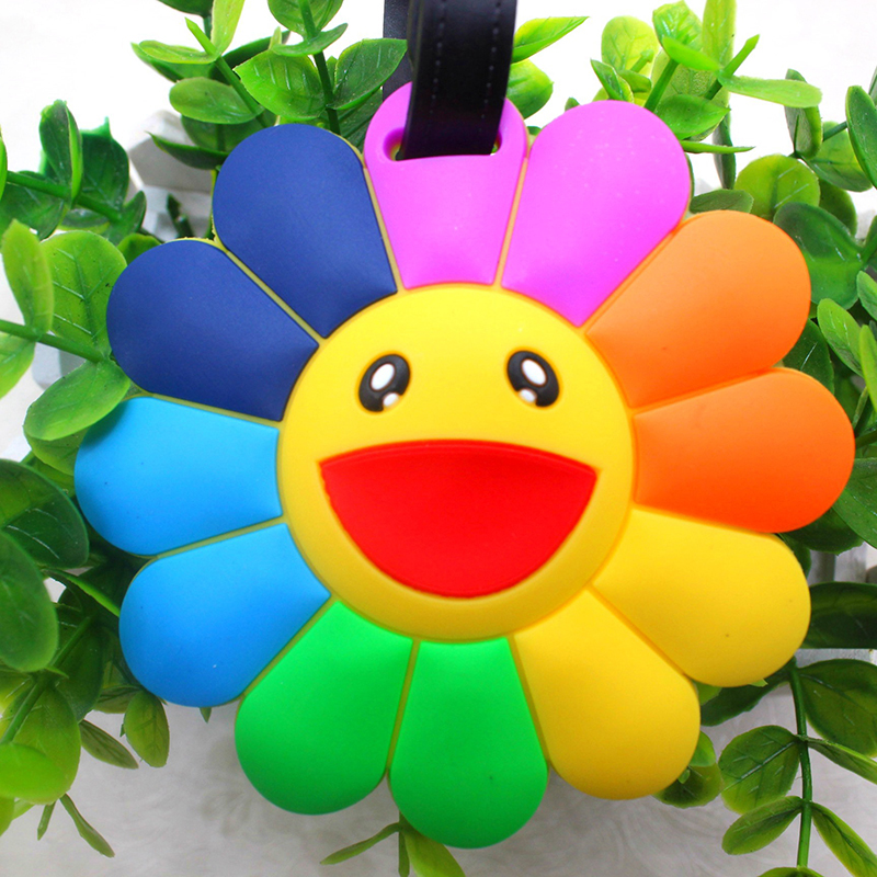 New Creative Luggage Tags Luggage Accessories Luggage Cover Flower Silica Gel PVC Soft Glue Cute Novelty