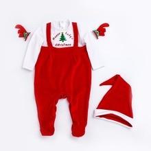2018 primavera recién nacido bebé niña ropa de algodón Navidad árbol  imprime niños ropa Niñas jumpsuit e87968923a0c