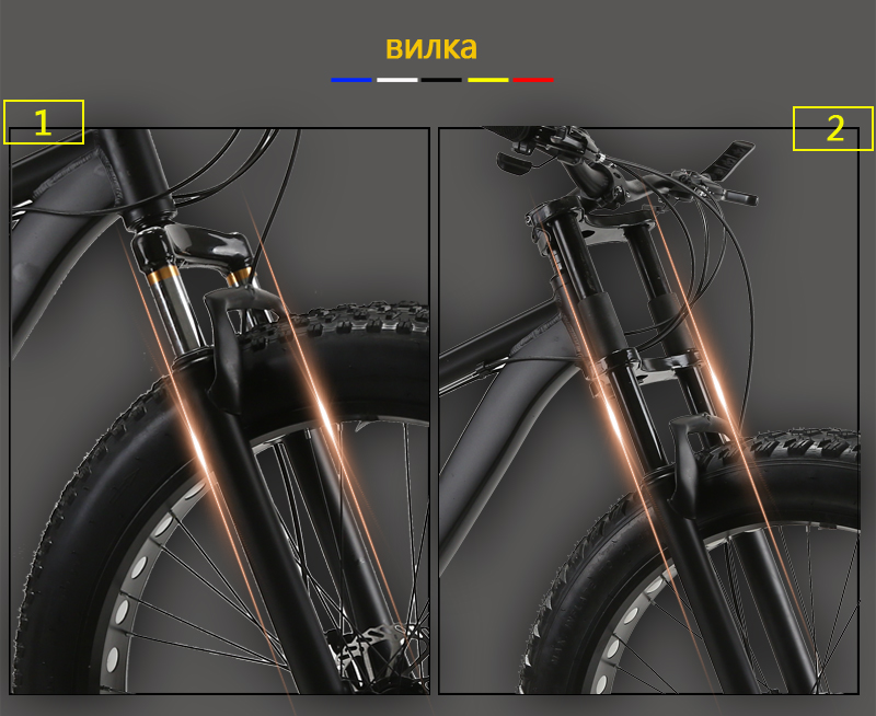 HTB1i0mlKb1YBuNjSszhq6AUsFXa5 wolf's fang Mountain Bike bicycle fat bike 21 speed Aluminum alloy frame 26 inch  road Snow bikes Man Free shipping