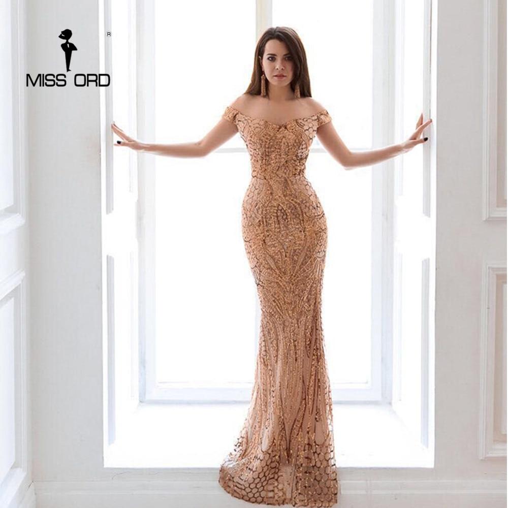 Missord 2020 Summer Sexy Bra Party Dress Sequin Maxi Dress Off the Shoulder Bodycon Elegant Wedding Women Dresses FT4912