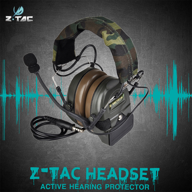 Comtac I Active Noise Reduction Headset Airsoft Military Shooting Headphones Z054