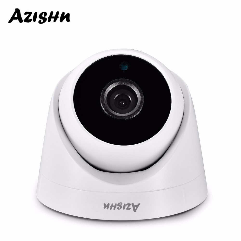 AZISHN Security 3MP 1080P SONY IMX307 960P 720P Indoor IP Camera Home CCTV ONVIF Motion Detection RTSP 2.8mm Lens Dome Cam POE