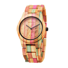 BEWELL Wood Watch Lightweight Bomboo Woman Quartz Wristwatch and Fashion Wood Watch for Woman's Gift Relogio 105DL