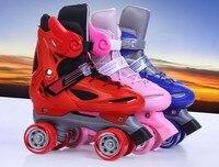High quality!Child 4 Wheel Roller Skates Shoes Sneakers Roller 4 Rodas Children Roller Skates For Kids Xmas Gift