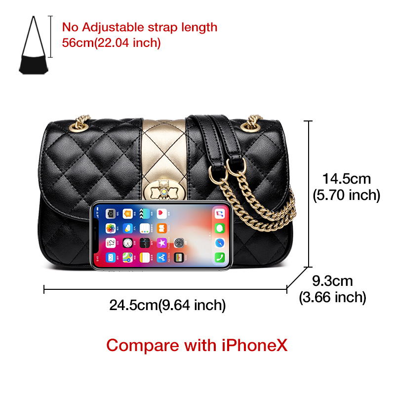 Image 5 - FOXER Women Chain Strap Messenger Bag Diamond Lattice Flap Lady High Quality Leather Ladies' Shoulder Bags Valentine's Day Gift-in Shoulder Bags from Luggage & Bags