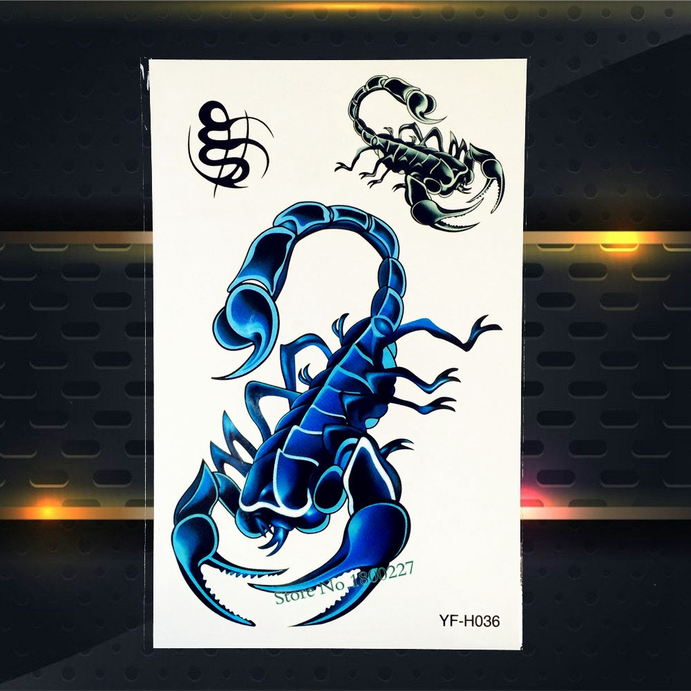 1PC Sexy Large Scorpions Tattoo Sleeve PYFH036 Men Women Body Arm Art Temporary Tattoo Sticker Waterproof Fake Tattoo Scorpions