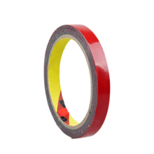 3M Super Acrylic Foam Double Sided Adhesive Tape Glue Car Sticker Roll Strong Permanent Red Versatile Auto Truck Craft