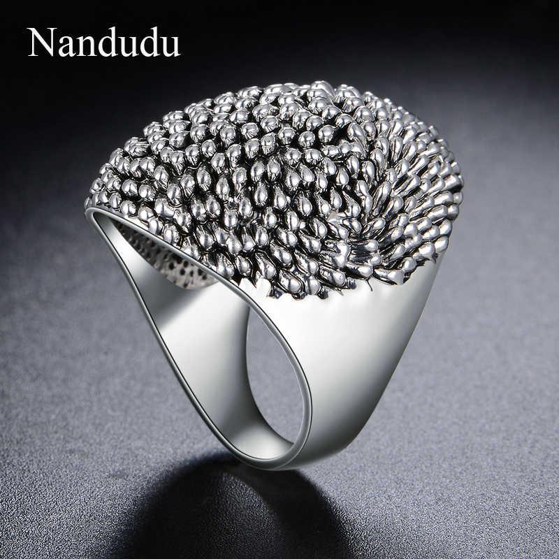 Nandudu Новое прибытие Ежик стиль кольцо для вечерние мужские и женские унисекс неправильные металлические кольца аксессуары, модные украшения подарок R1217
