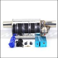 Tubo de escape do carro da bomba de vácuo válvula variável silenciadores controle remoto universal aço inoxidável id 51mm 63mm 76mm forma gravação|Silenciadores|   -