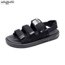 WHOHOLL Men Sandals Man Summer Sandals Water Beach Male Slipper Men's Casual Shoes Man's Flip Flops Slippers Plus Size 5-10.5 yatntnpy brand men sandals genuine leather beach shoes man summer casual slipper plus big size fashion non slip flip flops