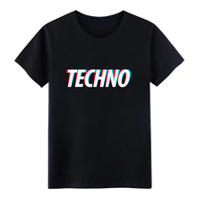 techno t shirt designer Short Sleeve Crew Neck Outfit Fitness Funny Summer Style cool
