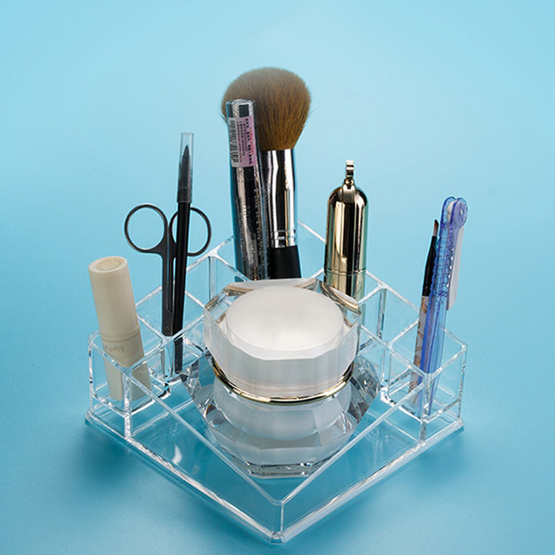 High Quality Clear Acrylic Makeup Lipstick Organizer Storage Box Desktop Holder Rack Case