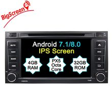 Octa Core Android 8.0 2 din 7 inch Car DVD For VW Touareg Multivan T5 2004-2011 GPS 4G Radio RDS Steering wheel Canbus(China)