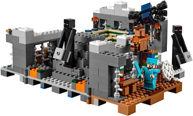 US $22 99 |Minecraft Set End Portal Building Bricks Block Set Compatible  With Lego 21124-in Blocks from Toys & Hobbies on Aliexpress com | Alibaba