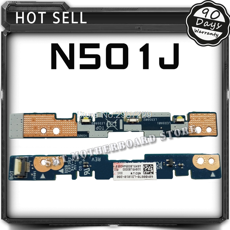 Original For ASUS UX501J UX50J UX50JW N501J N501J N501JW Small Indicator Board LED Board Interface Board Tested Well pn1906386602 communication board fittings of a machine tested well original