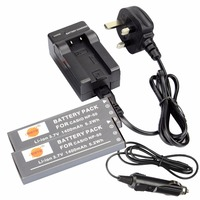 DSTE 2PCS NP 50 Rechargeable Battery Travel And Car Charger For Casio Exilim EX V7 V7SR