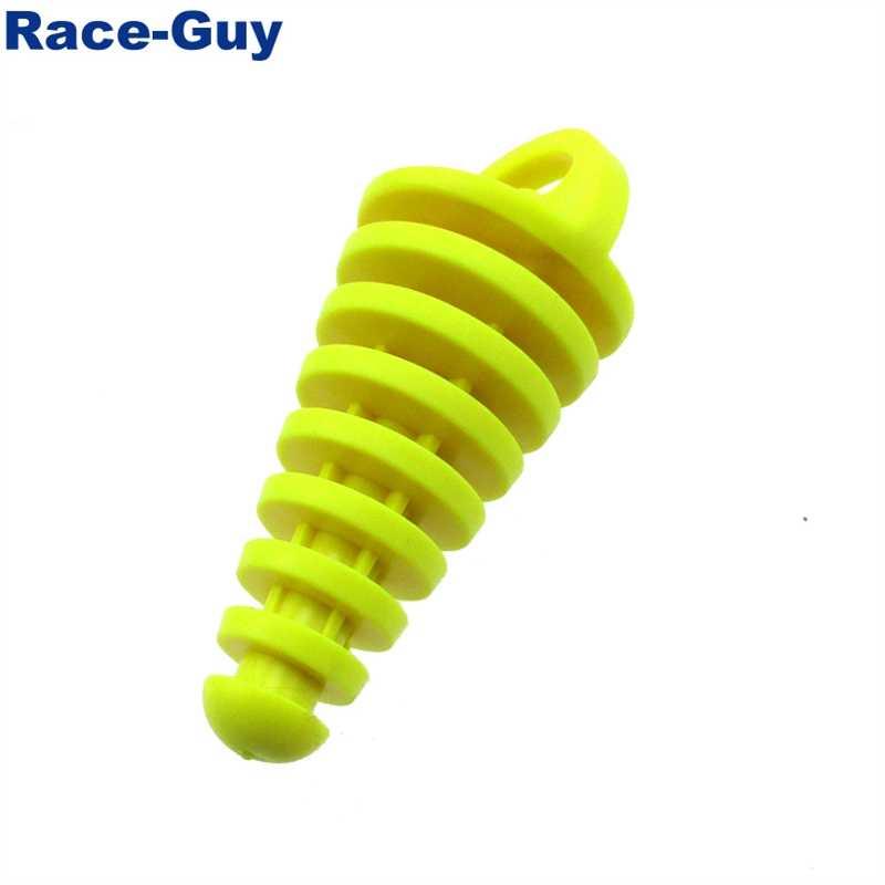 צהוב צעיף משתיק לשטוף תקע עבור KX RM CR 80 150 250 הונדה סוזוקי 2 שבץ טרקטורונים Quad 4 גלגלים בור Sc