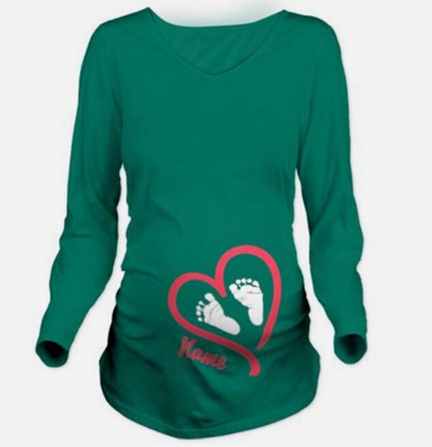 Pregnant Maternity T Shirts long sleeve Casual Pregnancy Clothes For Pregnant Women Clothing Gravida Cotton Vestidos Summer 2017
