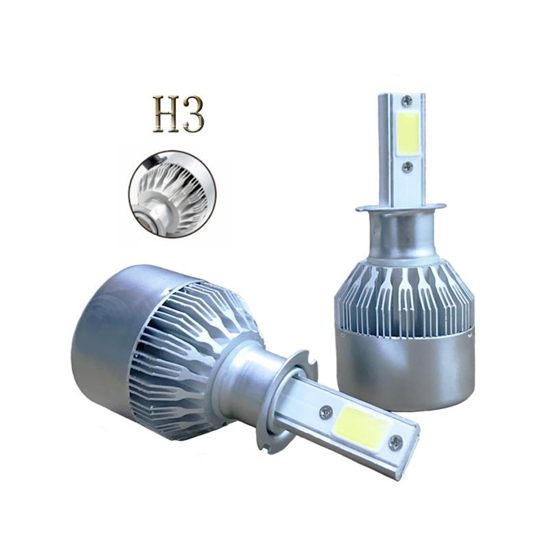 <font><b>Best</b></font> Selling H3 Led Car Headlight 12V 80W Cool White Bulbs Light Source 6500K 8000LM Headlamps Waterproof