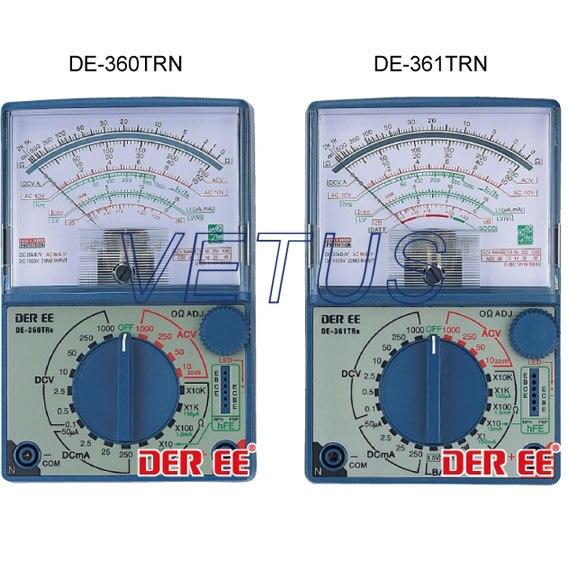 DE-360TRn mini Analog Multimeter neri karra 0150r 532 01 05