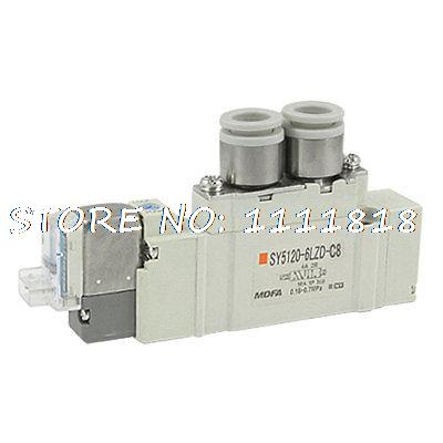 2 Position Single Actuation 5 Port Solenoid Valve DC12V 2x car led w5w t10 194 clearance light for lada granta vaz kalina priora niva samara 2 2110 largus 2109 2107 2106 4x4 2114 2112