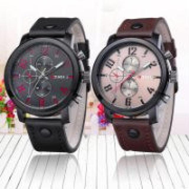 Super Hot  Quartz  Leather Watch for Men
