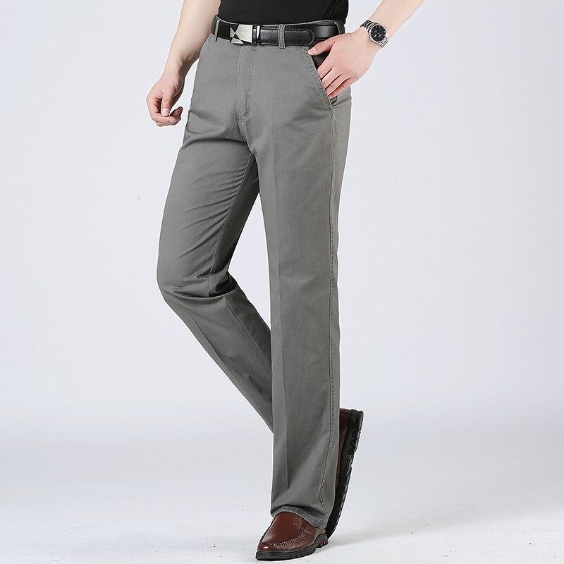 Baumwolle 95% Herren Hosen Reine Farbe Business Casual Hosen 30 31 32 33 34 36 38 40 Männer Kleid Hose