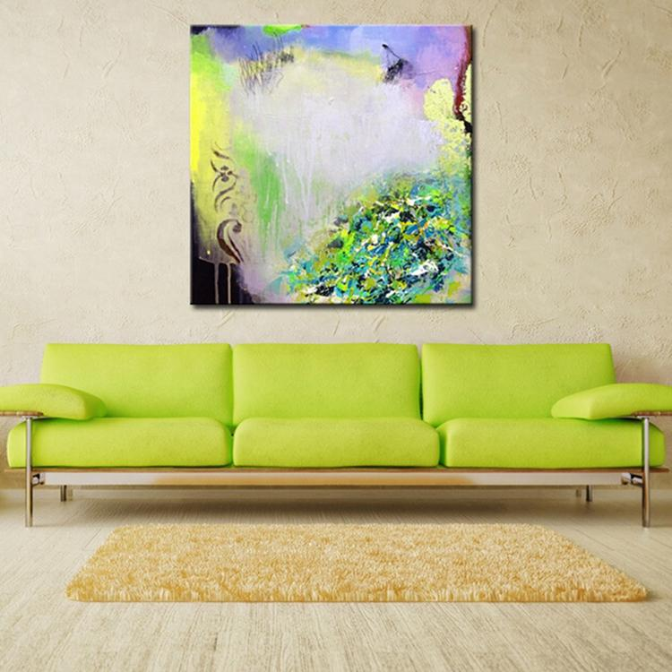 Wall Decor Home Goods: Modern Abstract Home Goods Wall Art Simple Color Acrylic