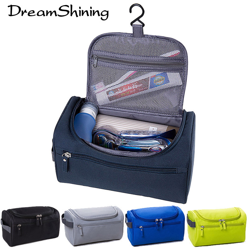 DreamShining New Men Women Multicolor High Quality Hanging Durable Waterproof Cosmetic Case Beauty Bolsa Toiletry Travel Makeup