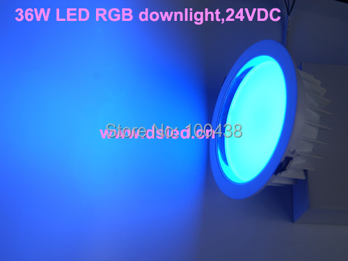CE,DMX compitable,High power 36W RGB LED downlight,12*3W RGB tri-chip,EDISON,DS-CSL-61-36W-RGB,good quality,24V DC