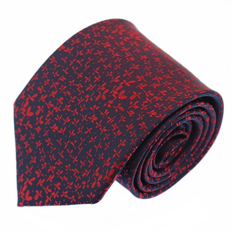 8CM New Design Tie For Men Polyester Woven Necktie Fashion Party Wedding Gravata