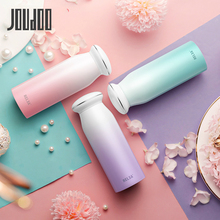 JOUDOO 380ml Vacuum Flasks 304 Stainless Steel Cute Thermos Bottle for Water Girl Straight Cup Drinkware Pink Blue Purple 35