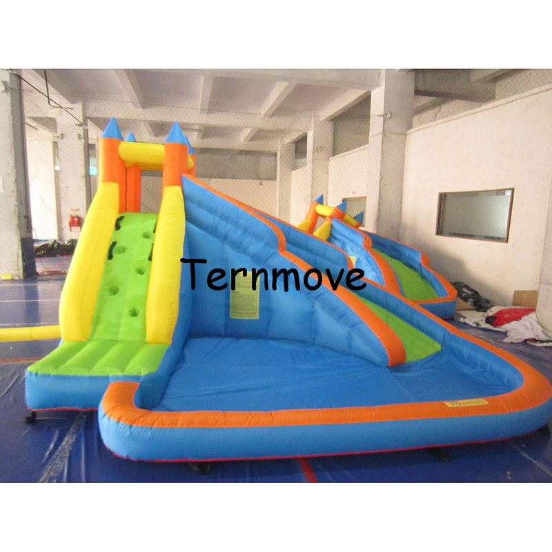 playground house games colorful outdoor Hot selling indoor large Water slide / commercial inflatable slide
