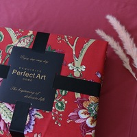 TUTUBIRD Luxury Egyptian cotton bedding set red princess flower print bedclothes soft duvet cover bedsheet pillowcase bedlinen