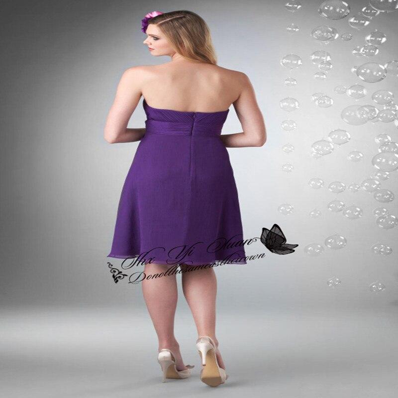 17 20 Best Selling Purple Bridesmaid Dress Chiffon Short Maid Of ...